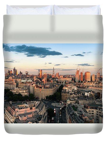 Duvet Cover featuring the photograph Golden Hour London by Stewart Marsden