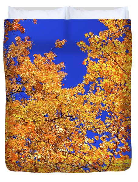 Golden Oaks Duvet Cover