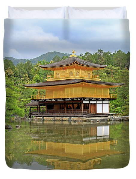 Golden Pavilion - Kyoto, Japan Duvet Cover