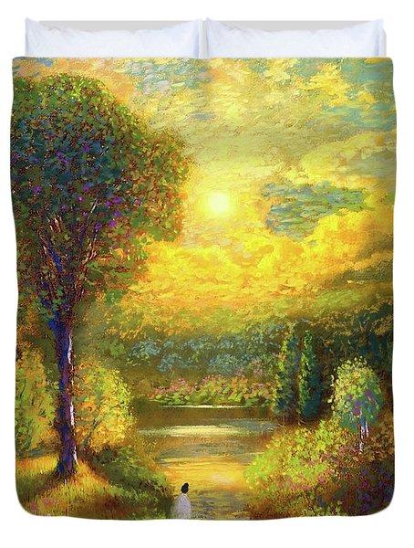 Golden Peace Duvet Cover