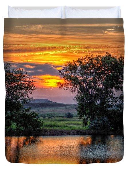 Golden Pond Duvet Cover