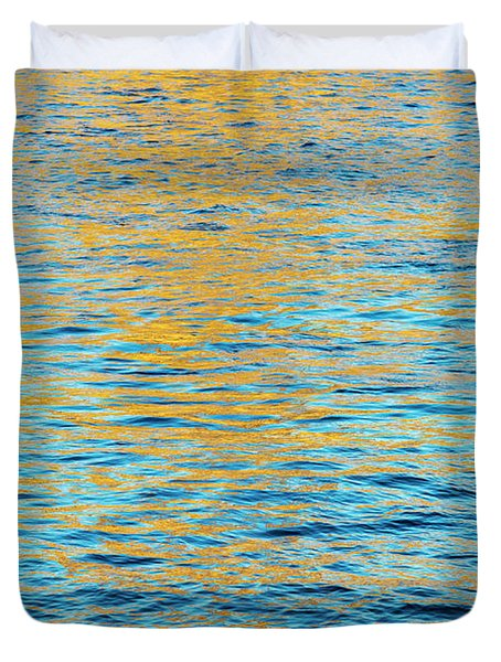 Golden Ripples Duvet Cover