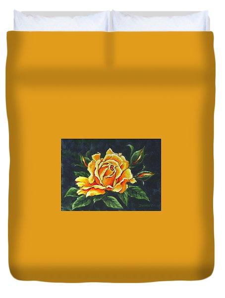 Golden Rose Sketch Duvet Cover