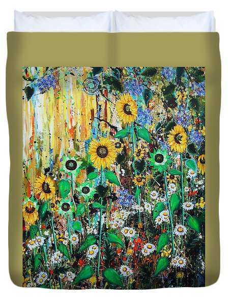 Golden Soldiers - Large Painting Duvet Cover