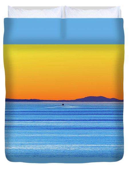 Golden Sunset Series I I Duvet Cover
