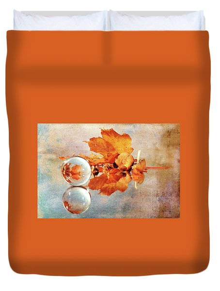 Duvet Cover featuring the photograph Golden Tones Of Fall by Randi Grace Nilsberg