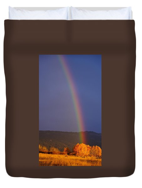 Golden Tree Rainbow Duvet Cover