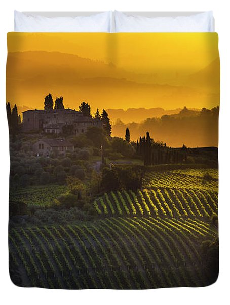 Golden Tuscany Duvet Cover