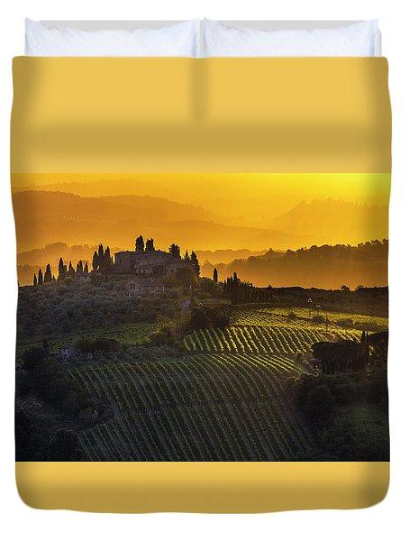 Golden Tuscany Duvet Cover