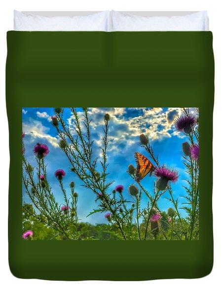 Golden Wings Duvet Cover