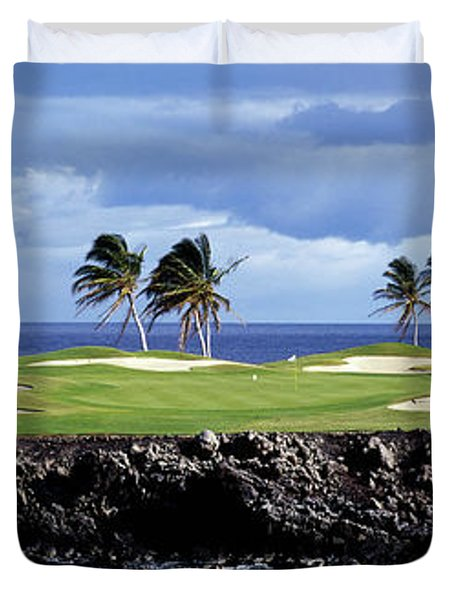 Golf Course At The Seaside, Hawaii, Usa Duvet Cover