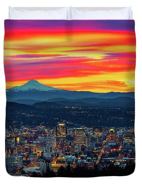 Good Morning Portland Duvet Cover