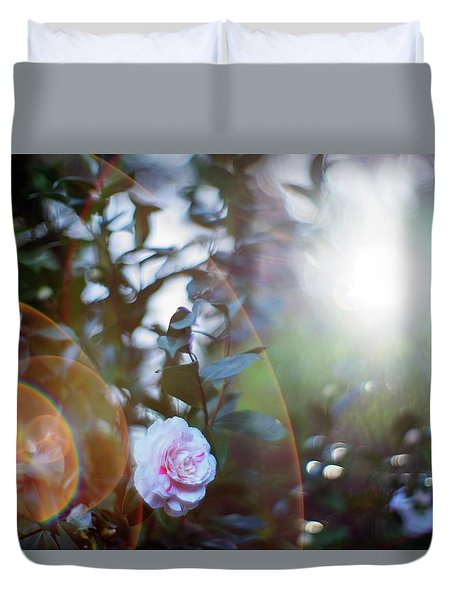 Duvet Cover featuring the photograph Good Morning Starshine, The Earth Says Hello by Quality HDR Photography