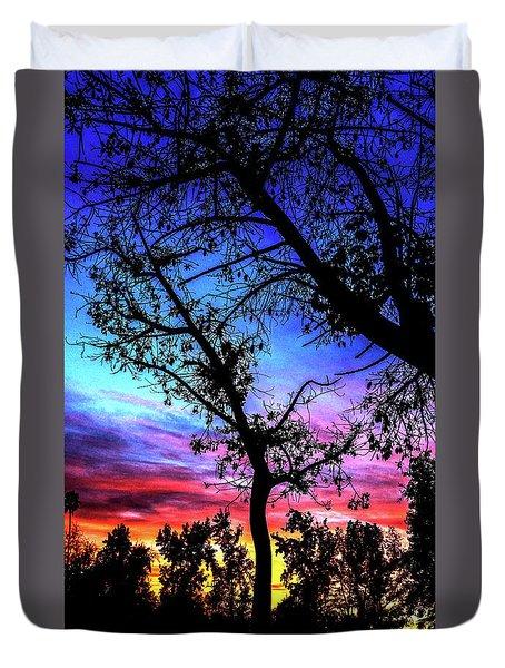 Good Night Leaves In Fall Duvet Cover
