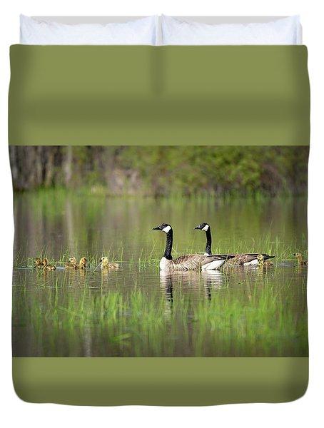 Goose Family #5 Duvet Cover