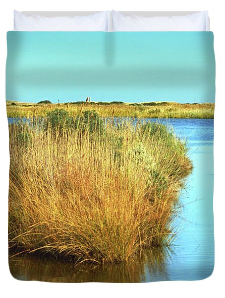 Duvet Cover featuring the photograph Gordon's Pond State Park Panorama by Bill Swartwout Fine Art Photography