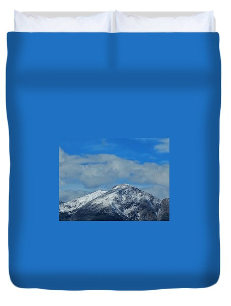 Duvet Cover featuring the photograph Gore Range Mountains by Lukas Miller