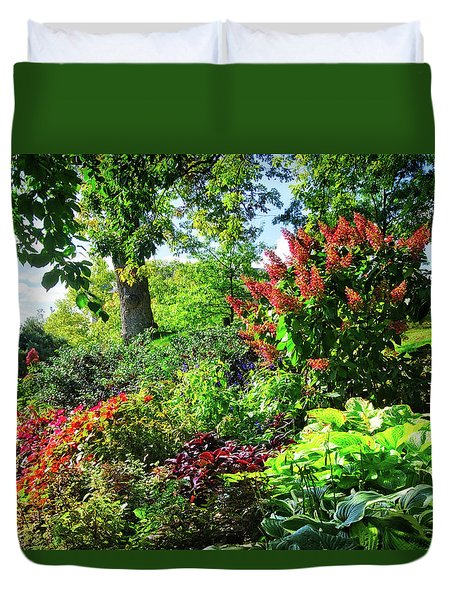 Duvet Cover featuring the photograph Gorgeous Gardens At Cornell University - Ithaca, New York by Lynn Bauer