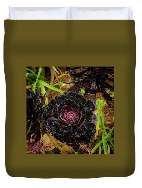 Goth Succulent Duvet Cover