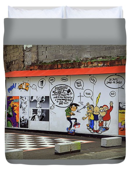 Duvet Cover featuring the photograph Graffiti by Tony Murtagh