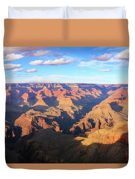 Duvet Cover featuring the photograph Grand Canyon Near Sunset by Dawn Richards