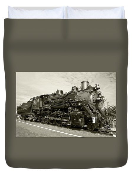 Duvet Cover featuring the photograph Grand Canyon Railway by Dawn Richards