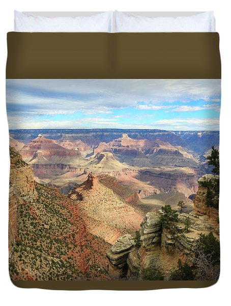 Duvet Cover featuring the photograph Grand Canyon View 3 by Dawn Richards