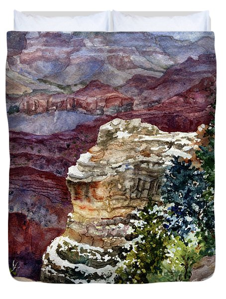 Grand Canyon Winter Day Duvet Cover