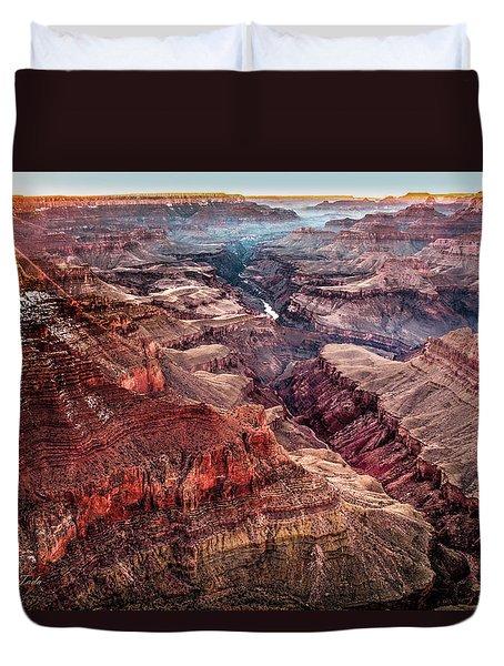 Grand Canyon Winter Sunset Duvet Cover
