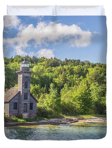 Grand Island East Channel Lighthouse Duvet Cover