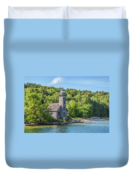 Grand Island East Channel Lighthouse, No. 2 Duvet Cover