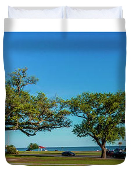 Grand Old Lighthouse Biloxi Ms Collage A1e Duvet Cover