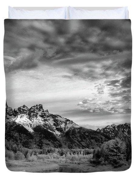 Grand Teton Mountain II Duvet Cover