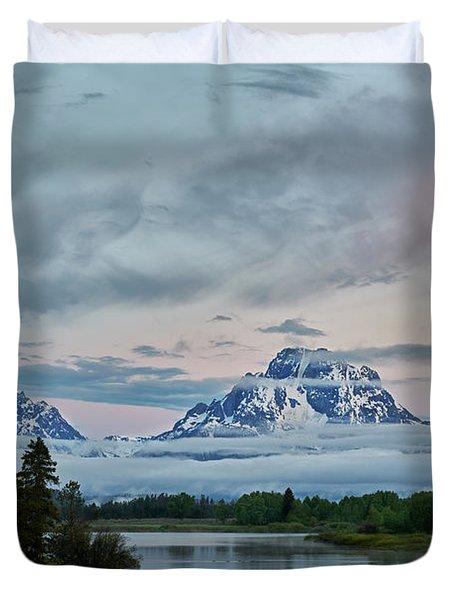 Grand Tetons Morning Duvet Cover