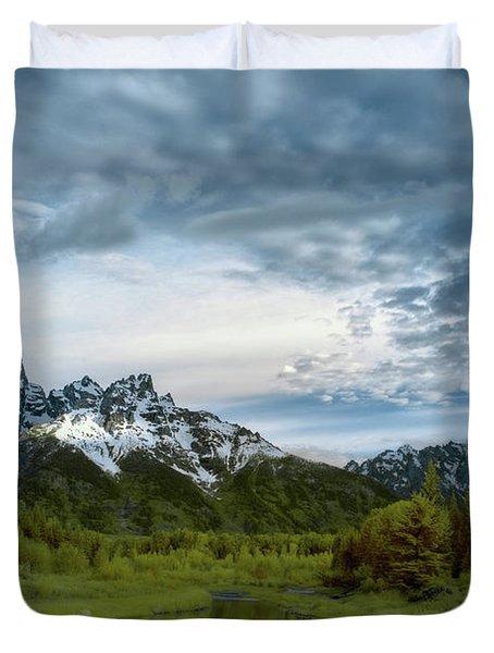 Grand Tetons Mountain Duvet Cover