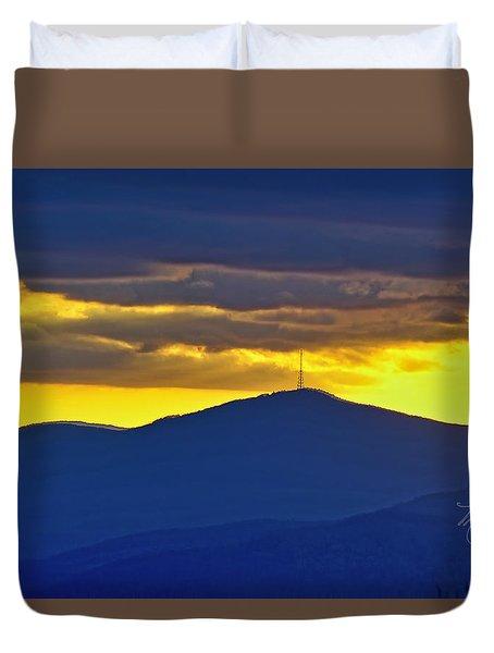 Grandmother Mountain Sunset Duvet Cover