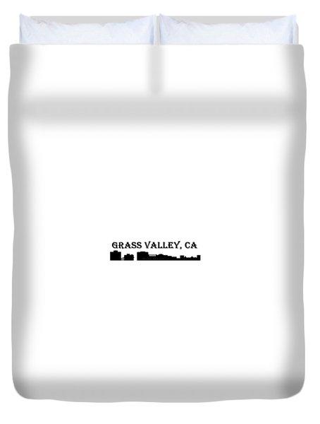 Grass Valley Skyline Duvet Cover