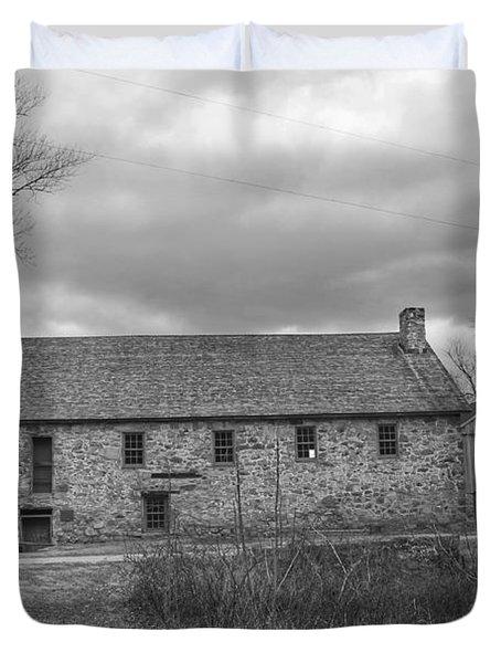 Grey Skies Over Fieldstone - Waterloo Village Duvet Cover