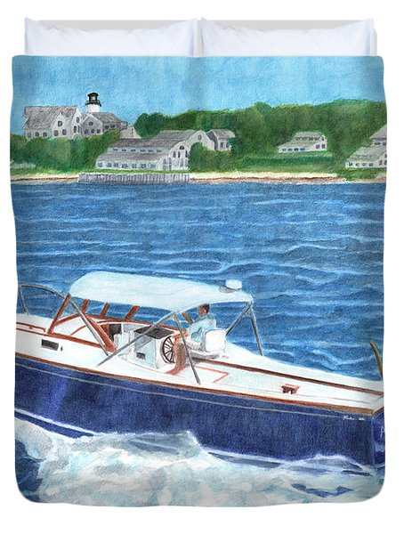 Great Ackpectations Nantucket Duvet Cover