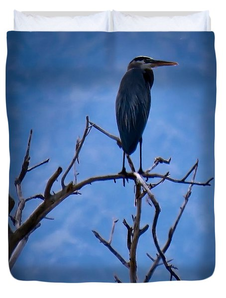 Great Blue Heron 3 Duvet Cover