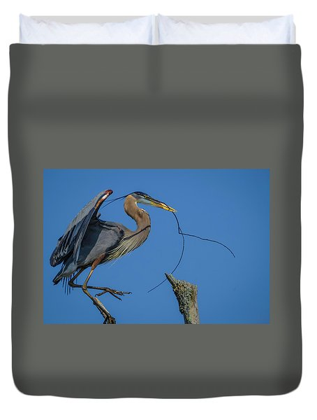 Great Blue Heron 4034 Duvet Cover