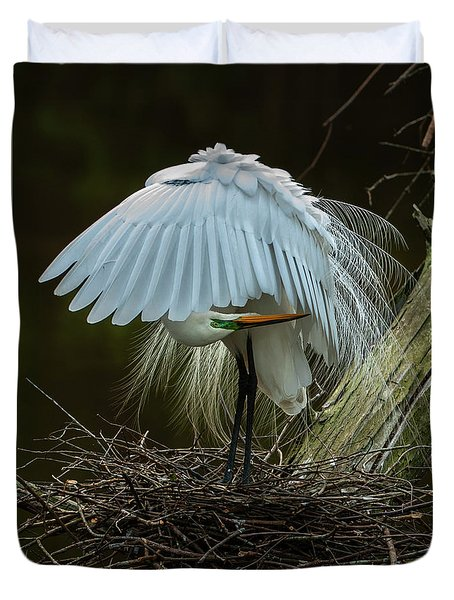 Great Egret Beauty Duvet Cover