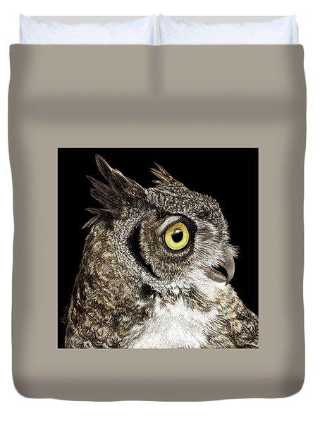 Great-horned Owl Duvet Cover