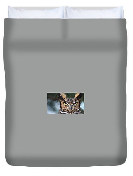 Great Horned Owl Eyes 51518 Duvet Cover
