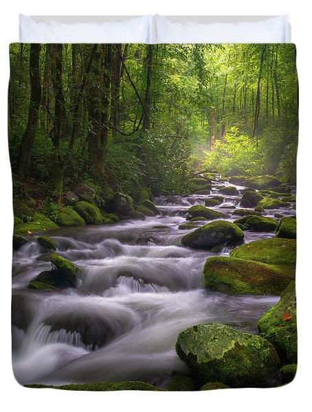 Great Smoky Mountains Gatlinburg Tennessee Duvet Cover