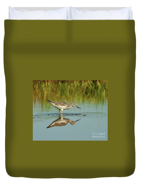 Greater Yellow-legs Shorebird Duvet Cover