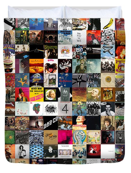 Greatest Rock Albums Of All Time Duvet Cover