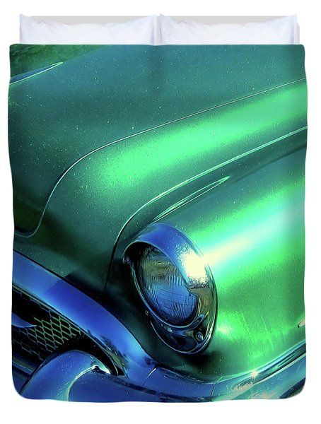 Green 1955 Buick Special Duvet Cover