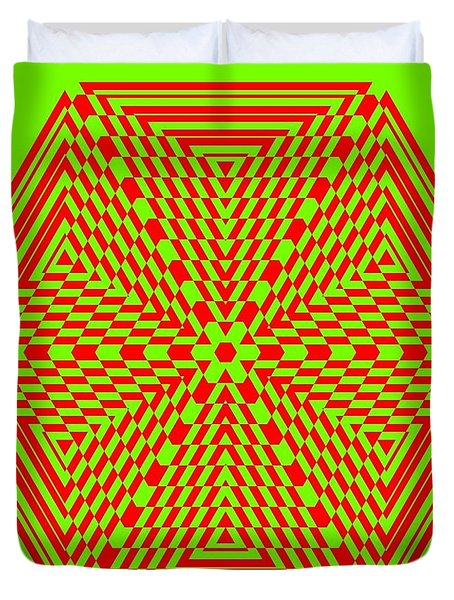 Green And Red Fusion  Duvet Cover