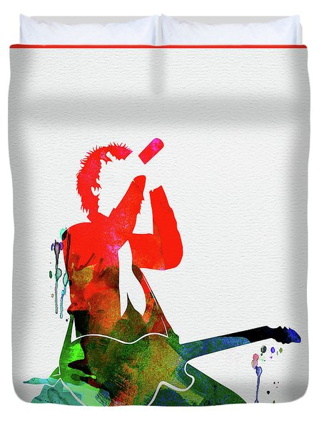 Green Day Watercolor Duvet Cover
